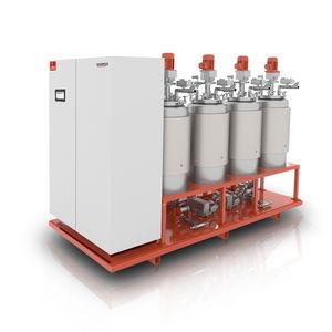 mezclador-dosificador para la industria electrónica / con bomba de engranajes / de resinas / para espumas PU