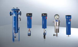 filtro de aire comprimido / de cartucho / de carbón activado / en línea