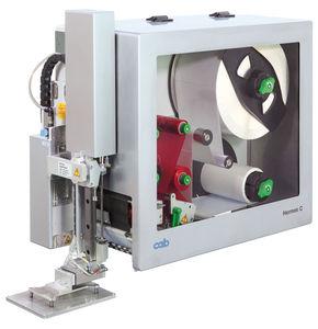 máquina de impresión-colocación de etiquetas de transferencia térmica / de 2 colores / para material plástico / para papel