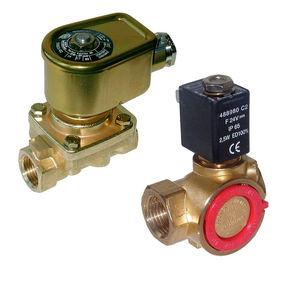 electroválvula de control asistido / de 2 vías / NA / para gas