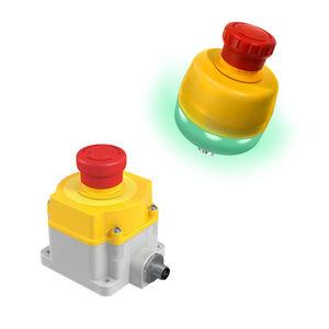 botón pulsador de parada de emergencia