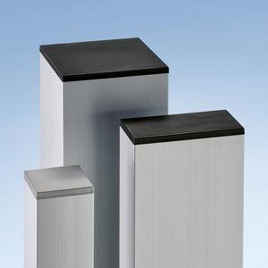 capuchón de extremo press fit / rectangular / de plástico / para extremo de perfil
