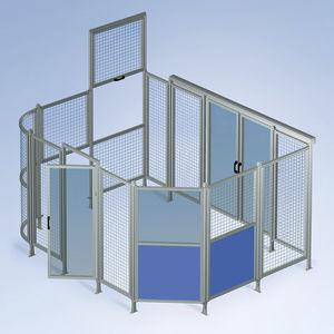 tabique de protección de máquina / enrejado / flexible / de aluminio