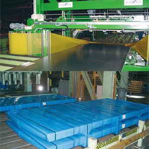 envolvedora horizontal / enteramente automática / para la industria del acero / de chapas de acero