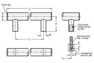 alta Tornillos/ DIN 464-M4-5 negro /Din 464/| rosca M4/| Acero bru/ñido ganter Norma Elementos