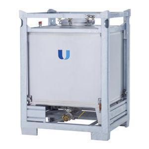 contenedor IBC de acero inoxidable / para líquido / de producto químico / de almacenamiento