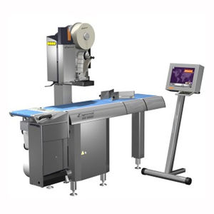 máquina de impresión-colocación de etiquetas térmica directa / multicolor / monocroma / para etiquetas