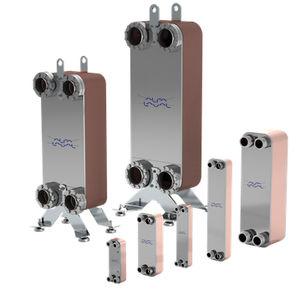 intercambiador de calor de placas soldadas / líquido-líquido / de acero inoxidable / compacto