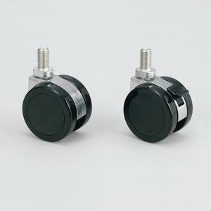 ruedecilla giratoria / con varilla roscada / con freno / altas cargas