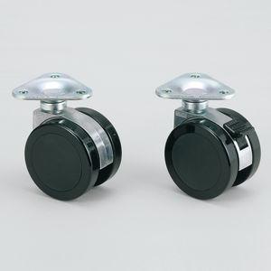 ruedecilla giratoria / con platino giratorio / gemela / de PA