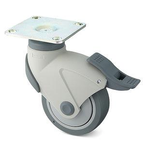 ruedecilla giratoria / con vástago / con rodamiento de bolas / con freno