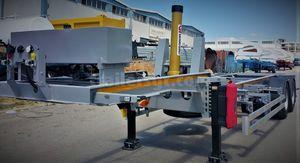 semiremolque de 2 ejes / volquete / para contenedores / hidráulico