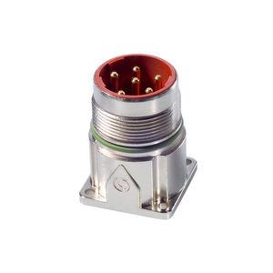 conector de alimentación eléctrica / DIN / circular / con dispositivo de bloqueo mediante tornillo