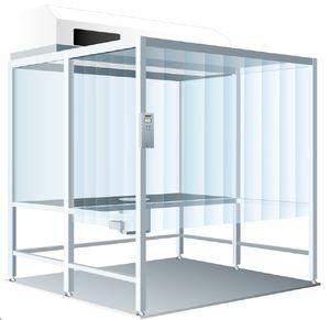banco de trabajo de acero inoxidable / para sala blanca / móvil / compacto