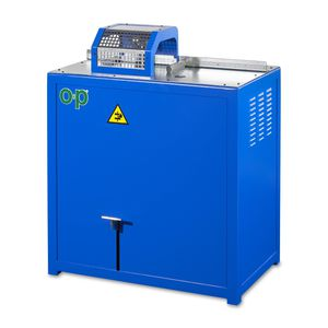 máquina de corte para caucho / de hoja rotativa / de tubos flexibles / con control manual