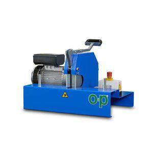 máquina de corte para caucho / de hoja rotativa / de tubos flexibles / compacta
