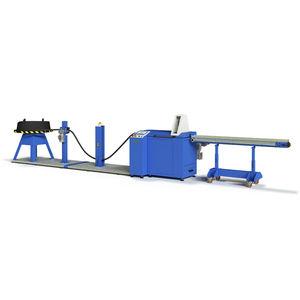 máquina de corte para caucho / de tubos flexibles / controlada por PLC / automática