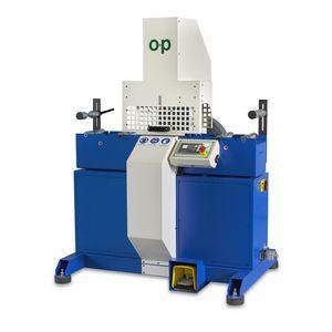 máquina de corte para caucho / de hoja rotativa / de tubos flexibles / controlada por PLC