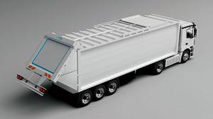 semiremolque de 3 ejes / de desechos / para contenedores / hidráulico