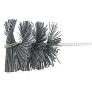 cepillo cilíndrico espiral / abrasivo / de carburo de silicio