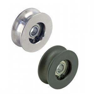 rodillo guía / de acero / de POM / con rodamiento de bolas