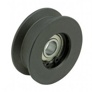 rodillo guía / de acero / para cargas pesadas / en V