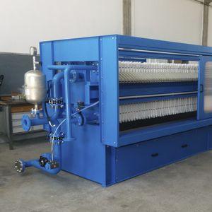 filtro-prensa de viga lateral / semiautomática / para tratamiento de aguas residuales / de alta presión