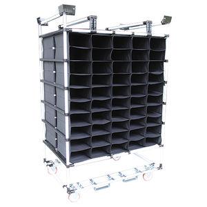 carretilla con estantes / de transporte / de acero / con plataforma