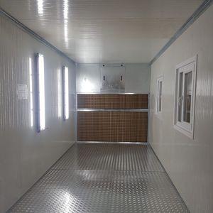cabina de pintura cerrada