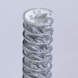 conducto de aire flexible / de tejido de vidrio recubierto de silicona / de acero galvanizado / de extracción de humos