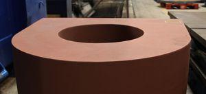 aplicación de pintura sobre acero