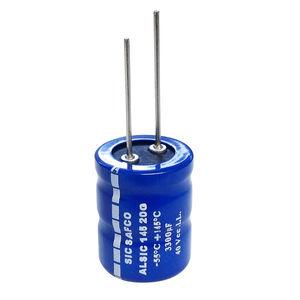 condensador eléctrico electrolítico / cilíndrico / con terminales radiales / de filtrado