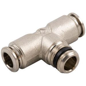 racor push-in / en T / de tubo abocardado / hidráulico