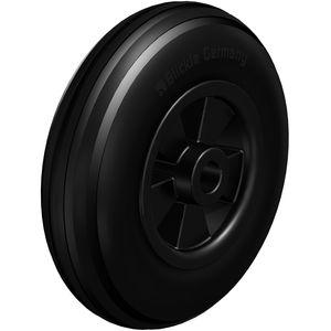 rueda con aro / de caucho / de polipropileno / de bajo ruido