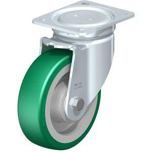 ruedecilla giratoria / con vástago / con rodamiento de bolas / altas cargas