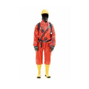 traje de trabajo / de protección química / criogénico / con cremallera