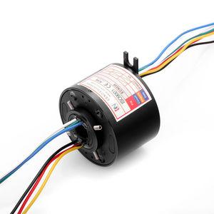 anillo colector eléctrico / de eje hueco / robóticas / para mesa rotativa