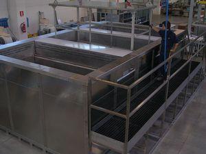 instalación de fosfatación