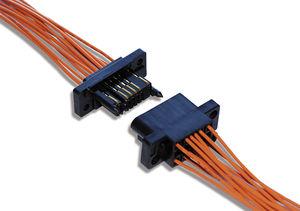 conector de fondo de panel / rectangular / hembra