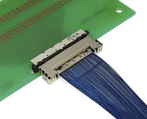 conector coaxial / hilo a tarjeta / SMT / DIN