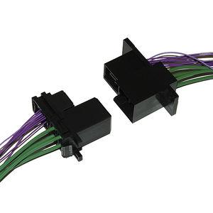 conector hilo a tarjeta / de fondo de panel / rectangular / autodenudantes