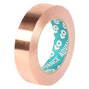 cinta adhesiva doble cara / de fibra acrílica / de cobre / para aplicaciones eléctricas