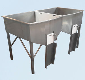 cuba de alimentación / para trabajos de limpieza / para pescado / de acero inoxidable