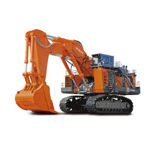 excavadora de grandes dimensiones / con orugas / diésel / para obra de construcción