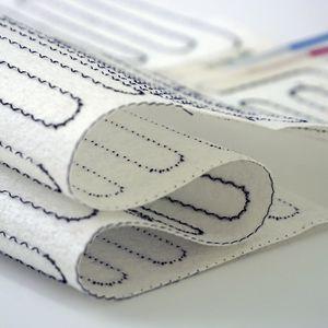 alfombra calefactora / ignífuga / de aislamiento térmico / no tejida