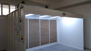 cabina de pintura abierta