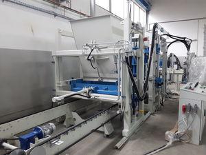 máquina para fabricación de bloques de hormigón