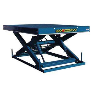 mesa elevadora de tijera / hidráulica / manual / estacionaria