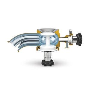 válvula de membrana radial / manual / de fondo de cuba / para aplicaciones de alta pureza