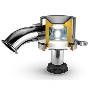 válvula de membrana radial / para depósito / para aplicaciones de alta pureza / con conexión clamp